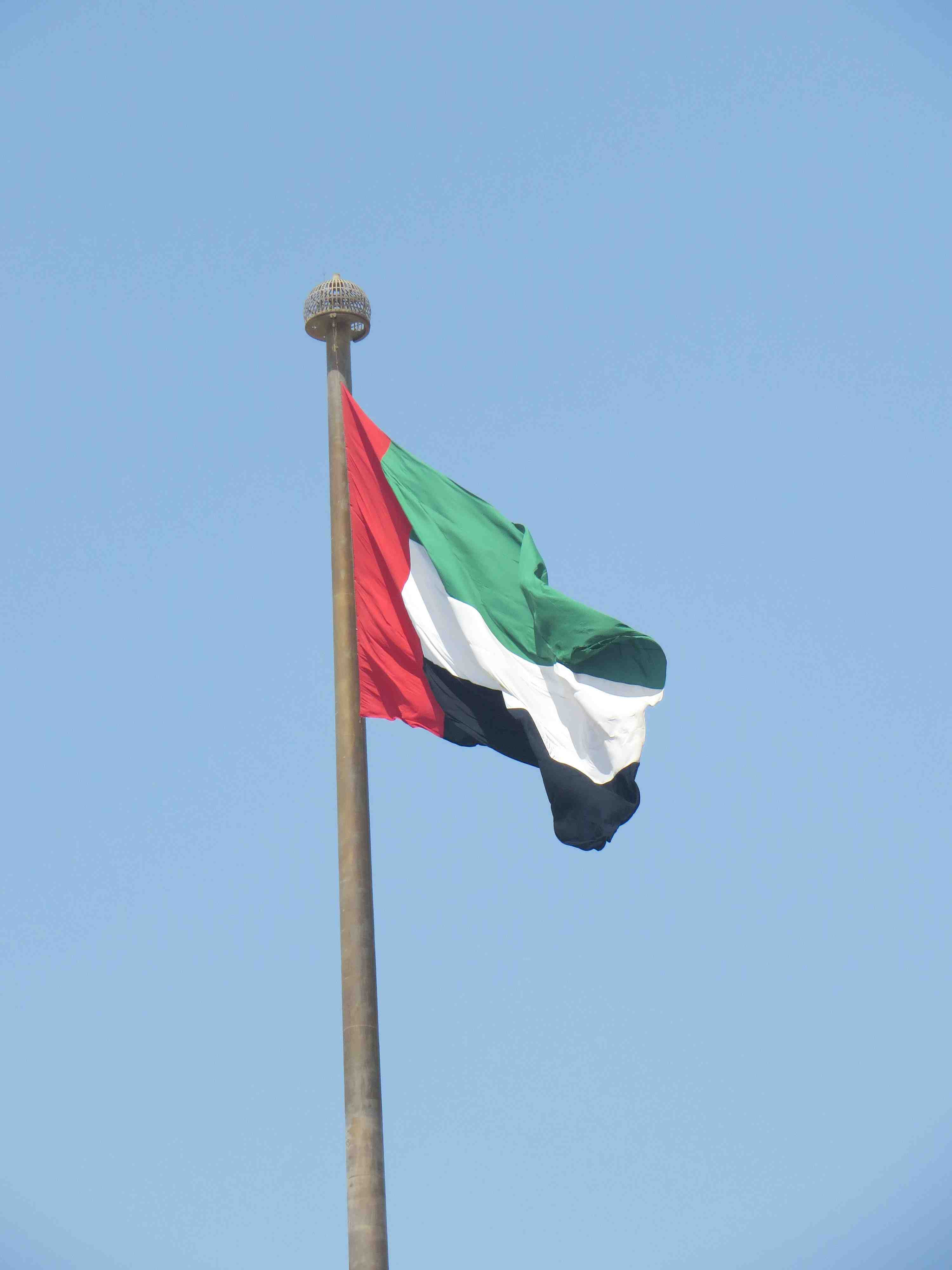 uae flag in dubai at the emirates official meeting