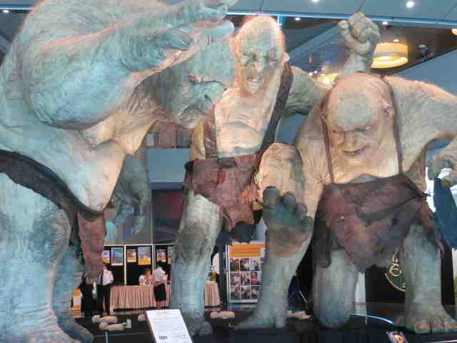 The Trolls from the Hobbit in Wellington Te Pepe Museum