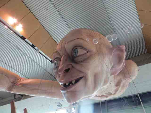 Gollum in the Queenstown Airport